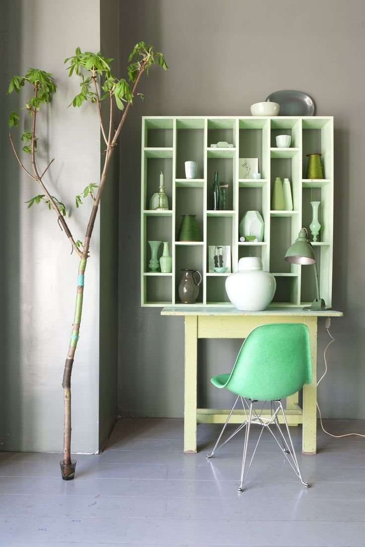 Groene accessoires   interieur insider