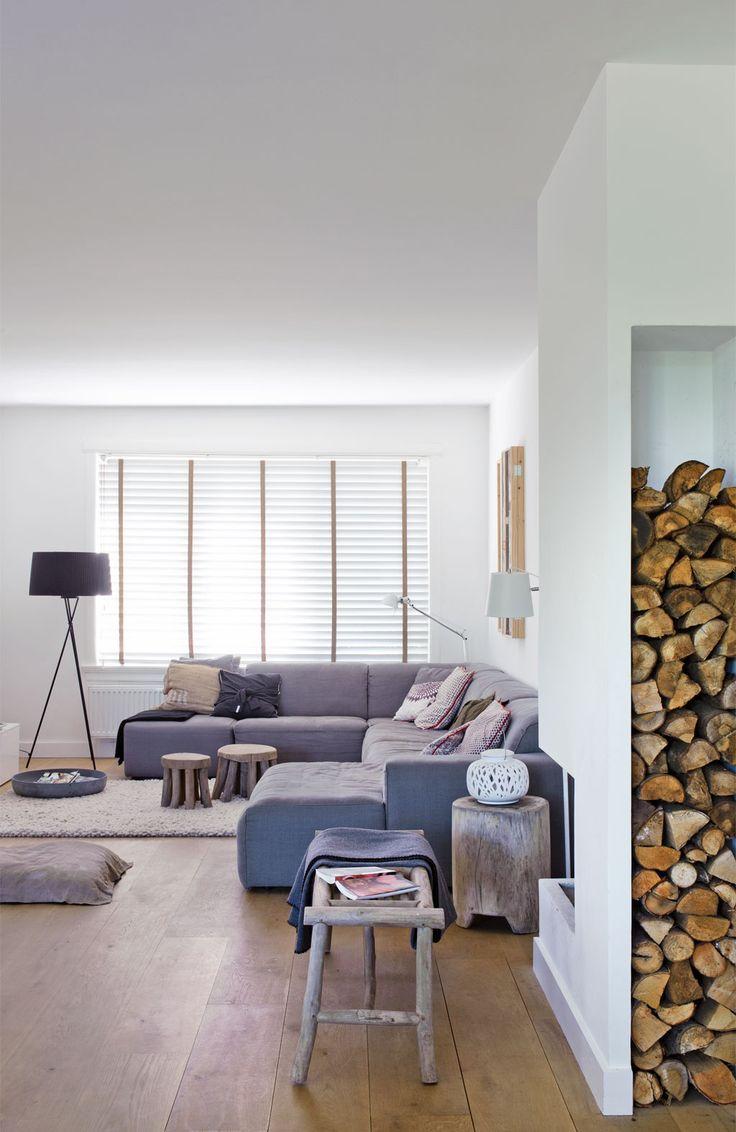 decoratie met houtblokken - interieur insider, Deco ideeën