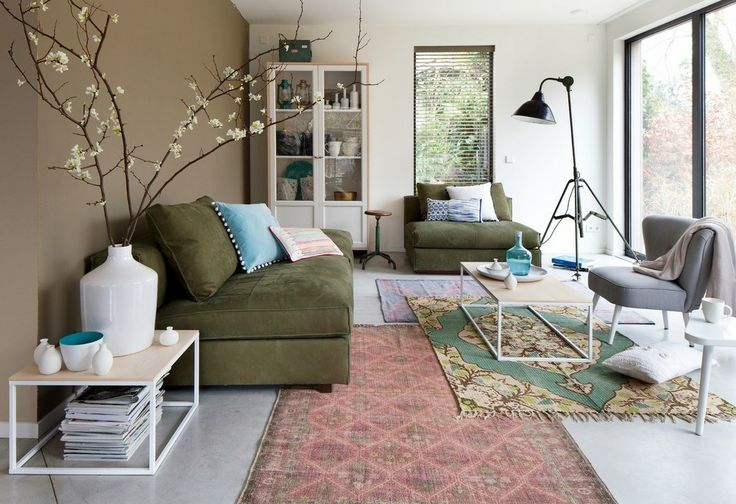 Vloerkleden combineren for Interieur accessoires design