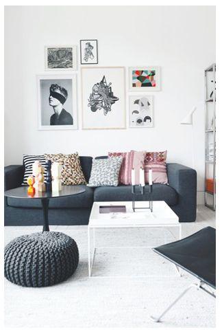 basic ronde poef. Black Bedroom Furniture Sets. Home Design Ideas