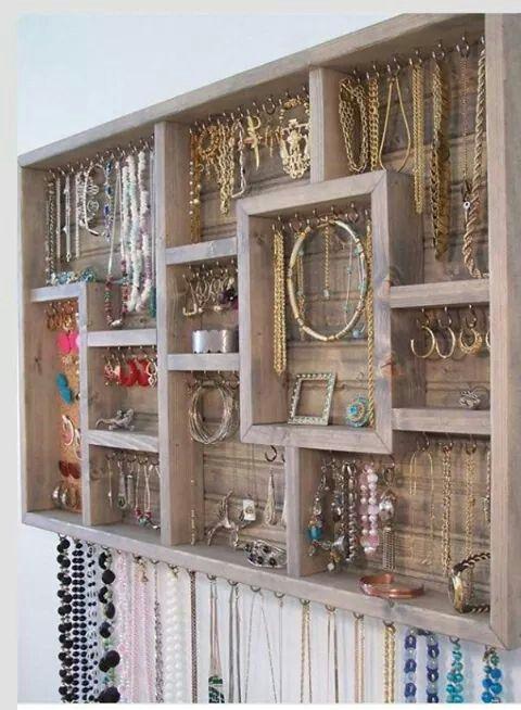 Sieraden opbergen - Rangement bijoux fait maison ...