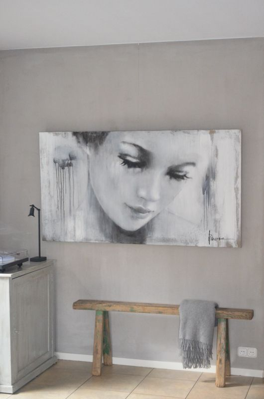 Grote schilderijen interieur insider - Schilderij in de kamer ...