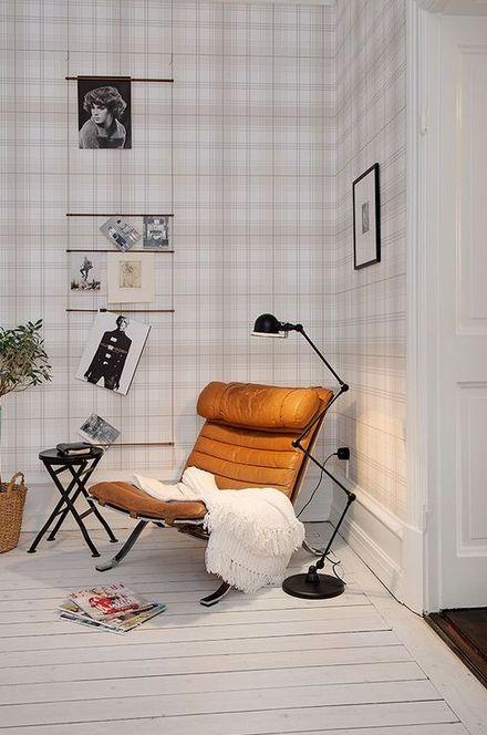 Grote leren stoel — InteriorInsider.nl