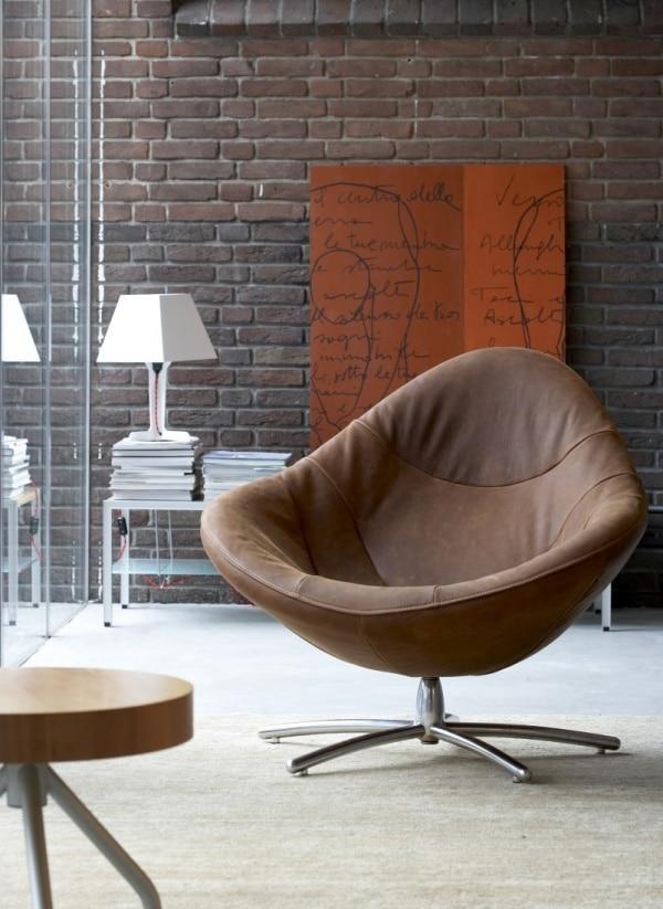 Grote leren stoel interieur insider for Bruine leren stoel