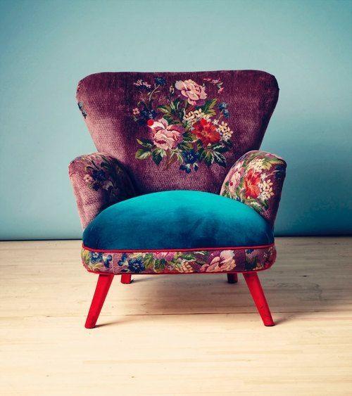 Bloemenprint meubels