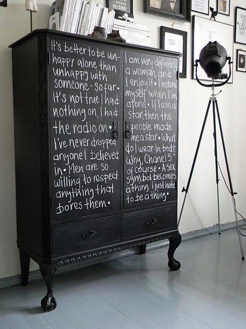 Schoolbord in interieur   interieur insider