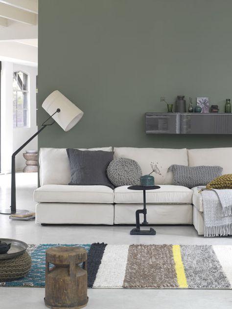 Groene muur inspiratie tips 2018 - Keuken wit en groen ...