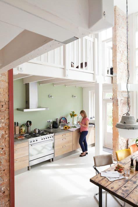 Keuken Kleur Muur : muur groene muur combineren groene muur keuken ...