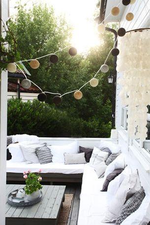 Aankleding en decoratie balkon