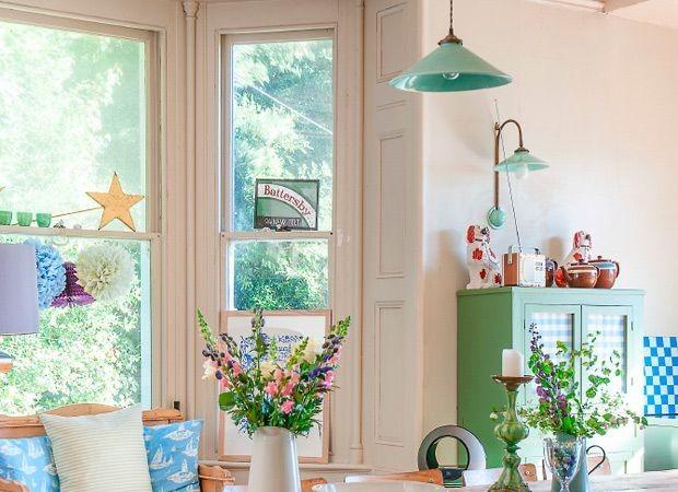 Bloemenprintje in de woonkamer