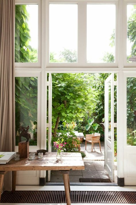 Schuifdeuren naar tuin interieur insider - Decoratie jardin terras ...