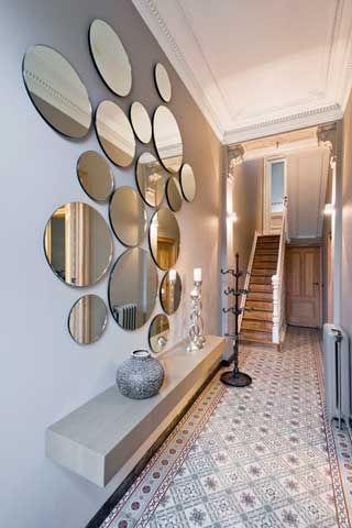 Spiegel in de hal - Decoratie entree van hal ...