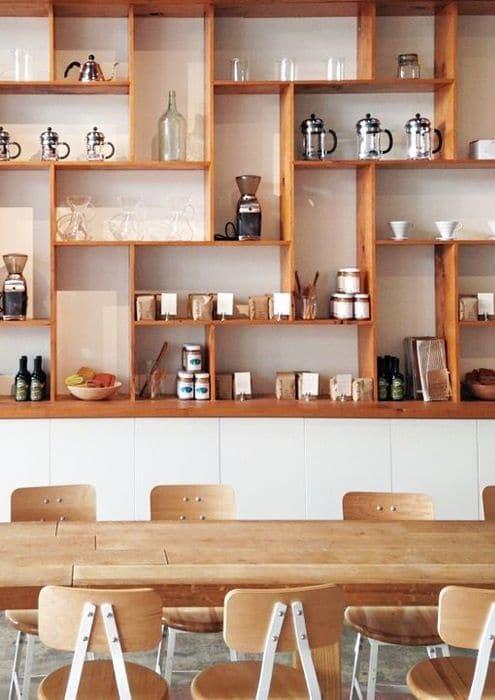 Keuken Gordijnen Maken : Modern Cafe Display Shelving