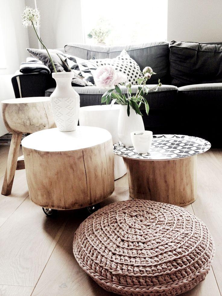 houten krukje badkamer — InteriorInsider.nl