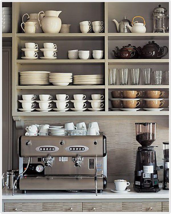Hoekje voor koffie en thee