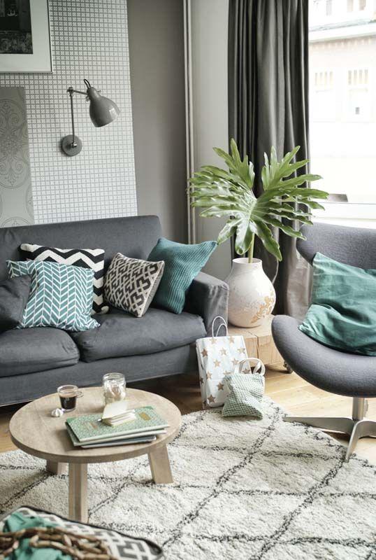 Vloerkleed Met Print Interieur Insider: gezellige woonkamer