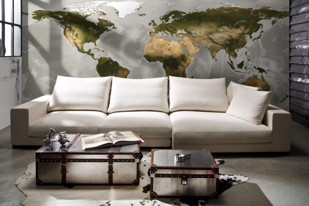 Wereldkaart-fotobehang