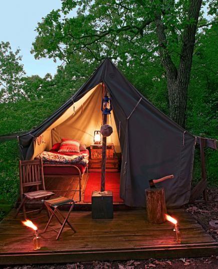 Meubels voor op de camping