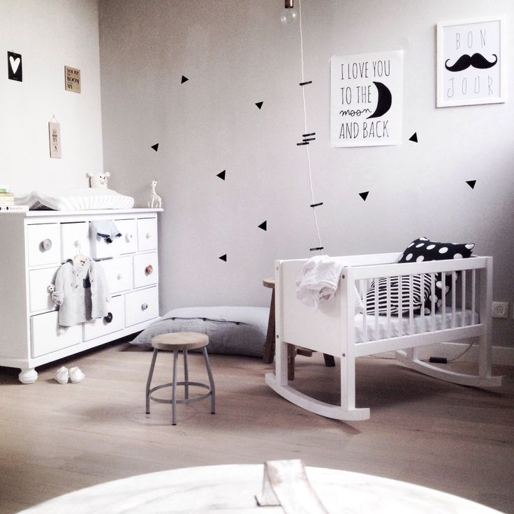 Leuke knoppen op kastje - Chambre enfant noir et blanc ...
