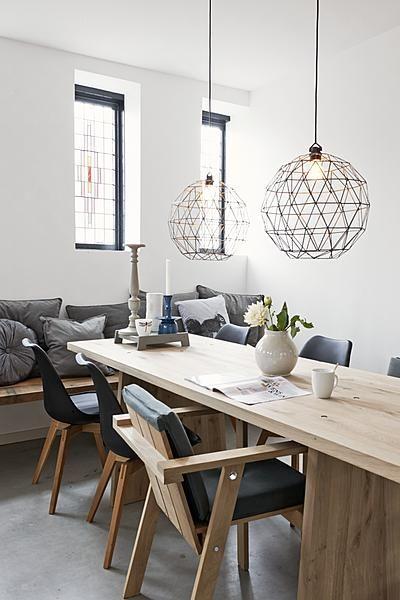 Lampen boven eettafel