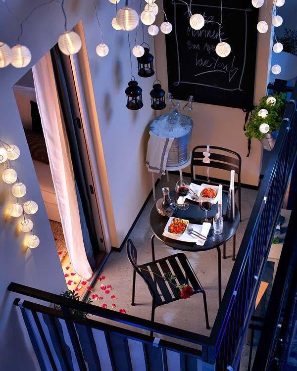 Inrichten mini balkon