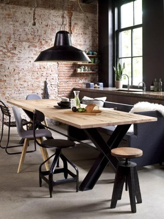 Eettafel met verschillende stoelen interieur insider - Moderne stoelen ...