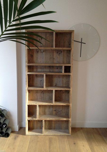 Zelf boekenkast maken interieur insider for Boekenkast steigerhout