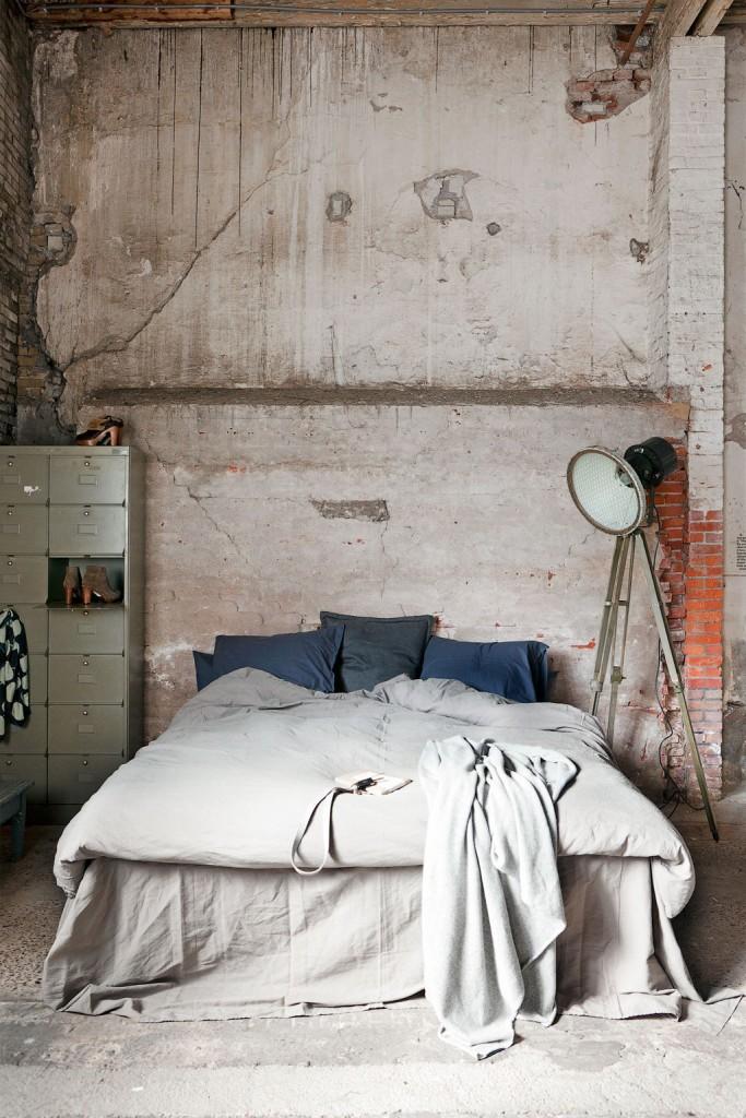 industriele slaapkamer