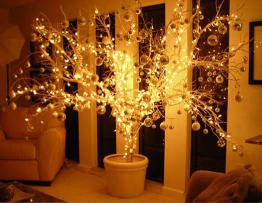 Kerstboom takken