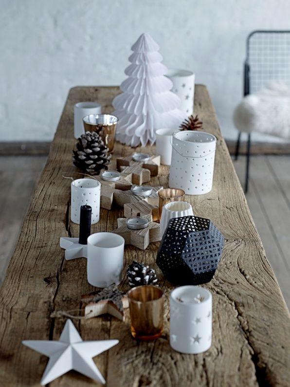 Kerstdecoratie tafel