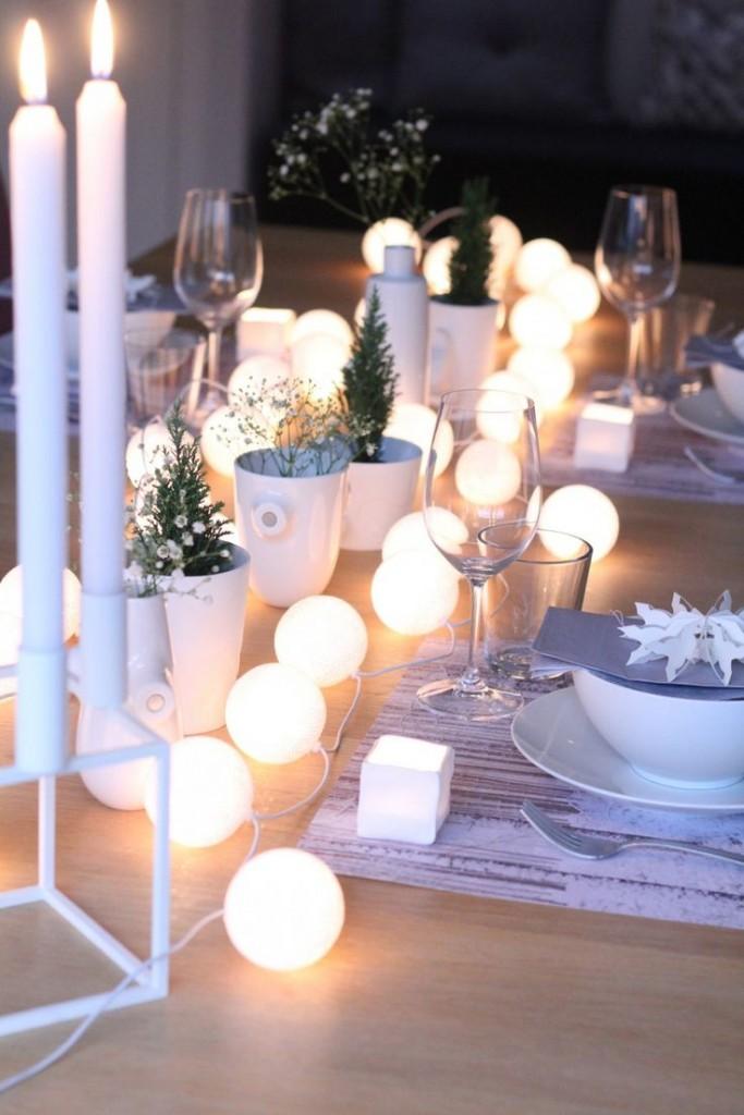 kerstdecoratie maken voor op tafel 1