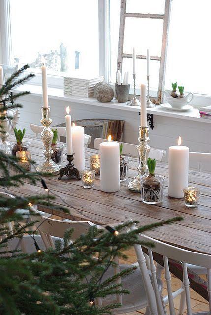 kerstdecoratie voor op tafel