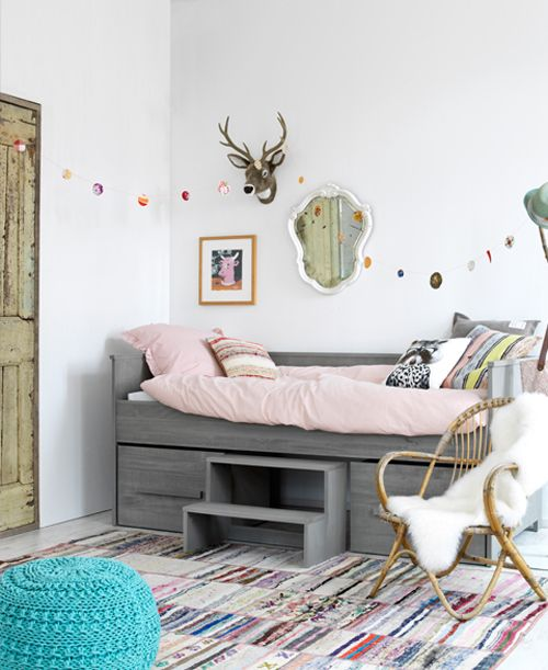 Meidenkamer inspiratie voorbeelden tips 2018 - Roze kleine kamer ...