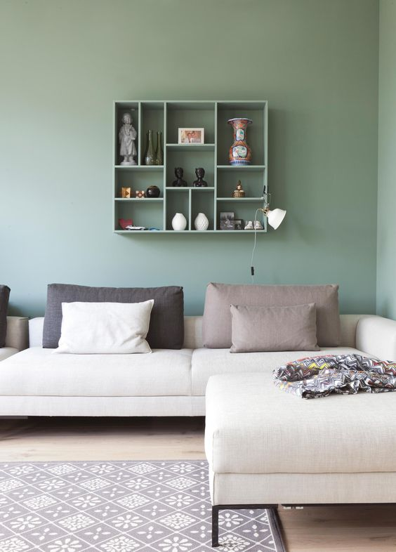 Groen interieur interieur insider - Kleur van de muur kamer verf ...
