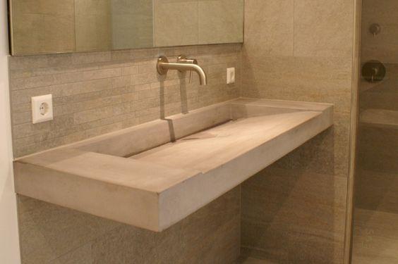 Badkamer beton maken for Betonstuc zelf aanbrengen