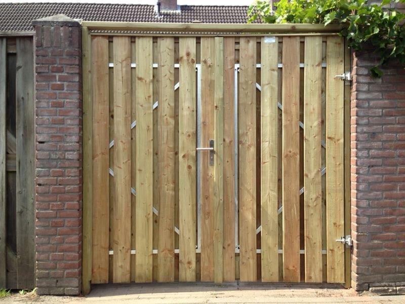 houten poort zelf maken