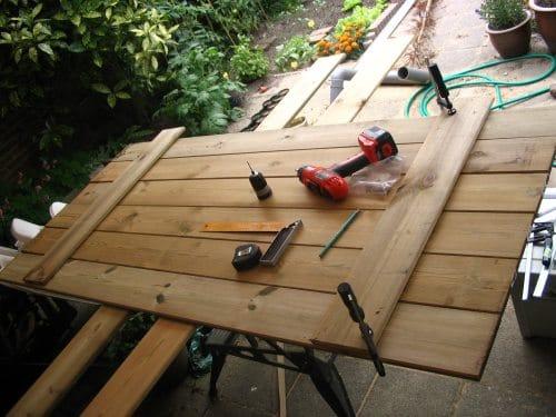 houten tuinpoort maken