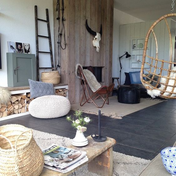 Stoere inrichting woonkamer - Interieur Insider