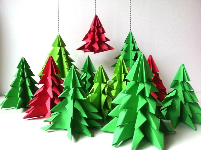 Kerstboom maken van papier 1