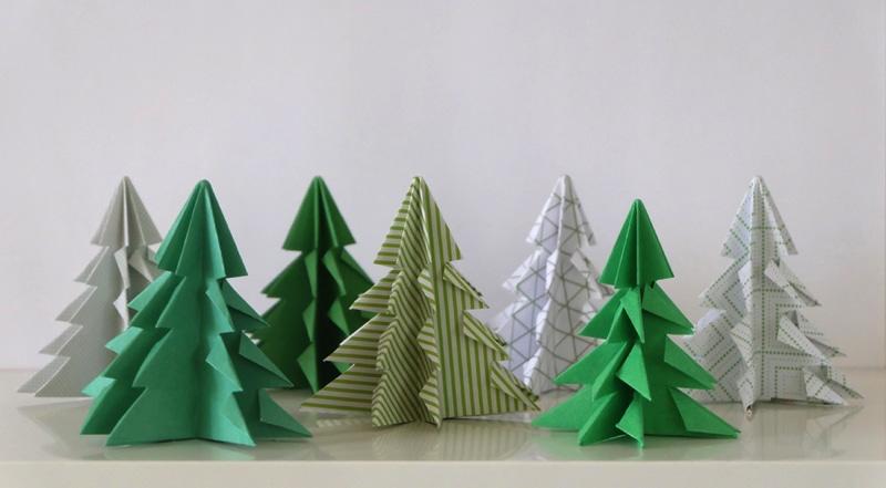 Kerstboom maken van papier 4