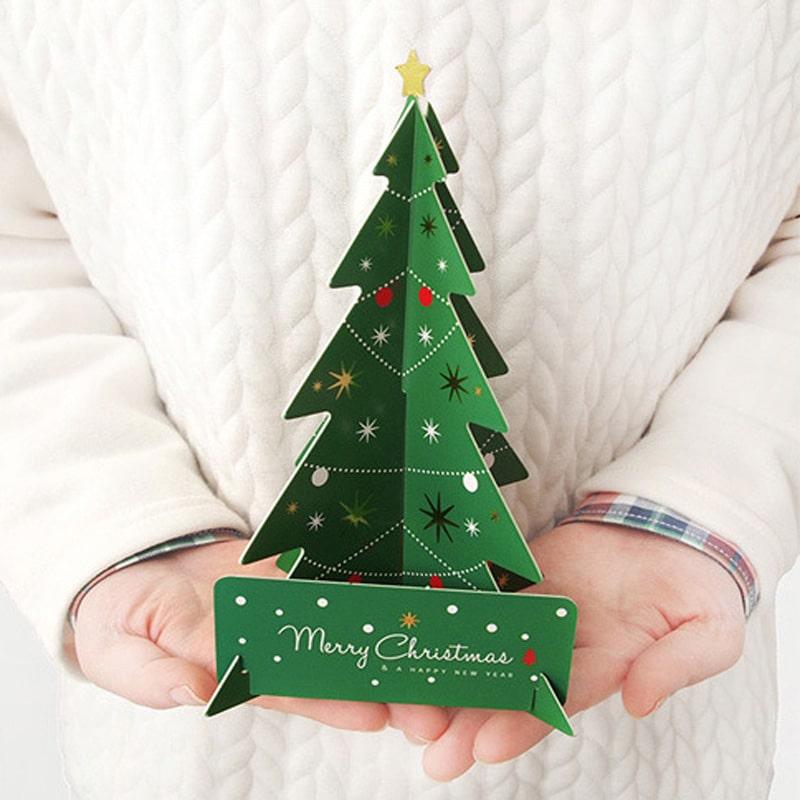Kerstboom maken van papier 6