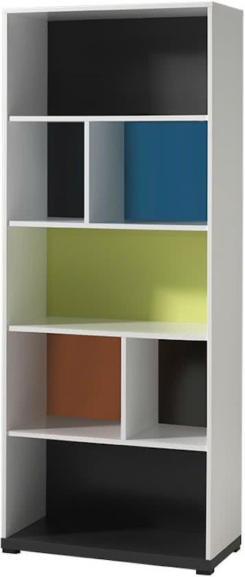 Gekleurde boekenkast