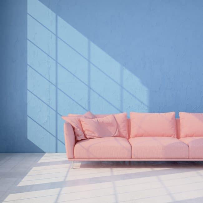 Pastelkleuren interieur