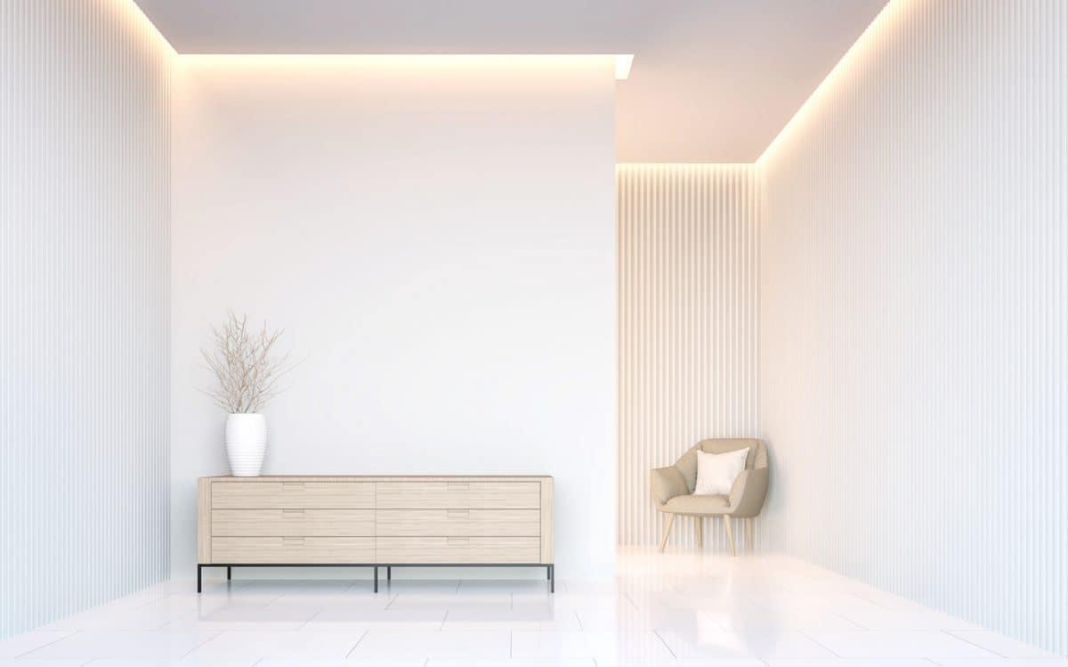 Witte woonkamer — InteriorInsider.nl