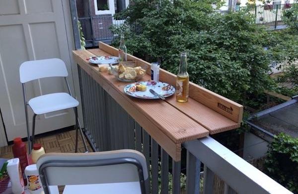 klein balkon tafel inspiratie
