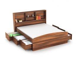 Houten bed met laden