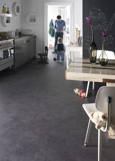 linoleum betonlook keuken