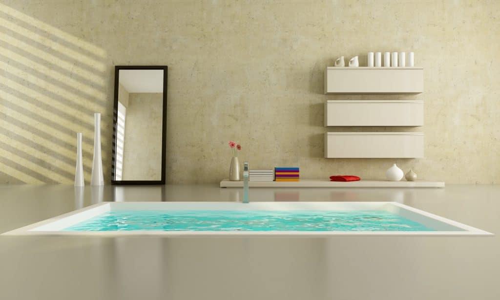 strakke betonstuc badkamer