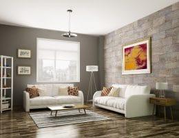 Inrichting woonkamer modern