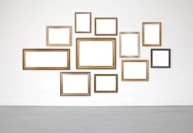 Fotolijsten muur